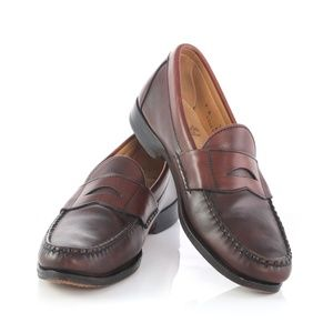 Allen Edmonds Burgundy Leather Penny Loafers Shoes